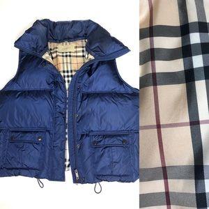 Burberry London Blue Puffer Vest like new large